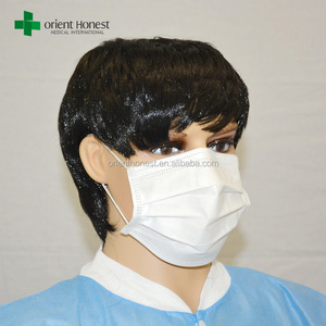 Hubei suppliers white nonwoven cheap disposable face mask for food service and restaurant