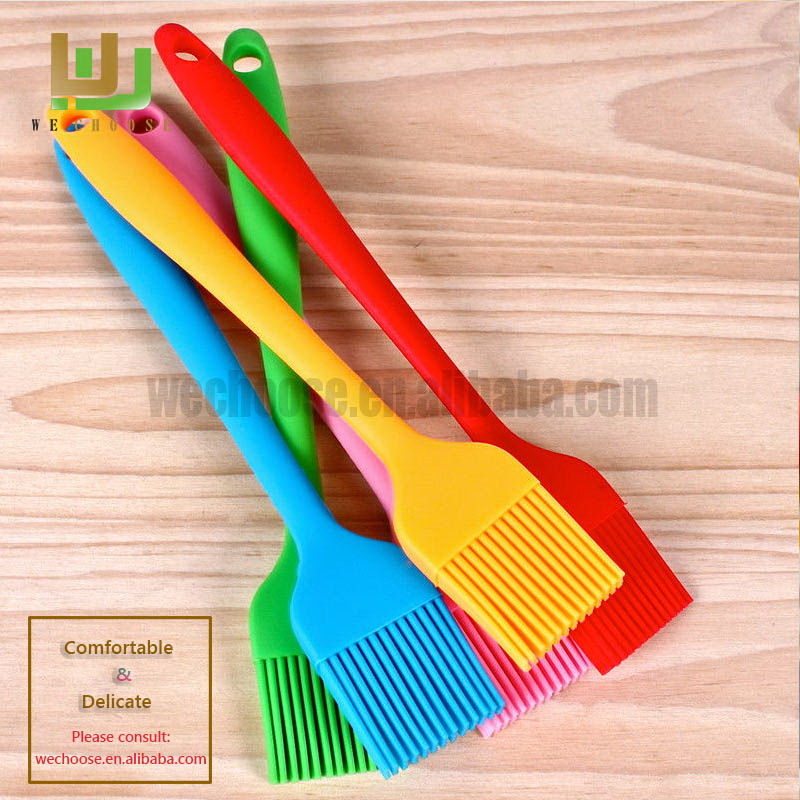 New style unique silicone oil brush with glass bottle