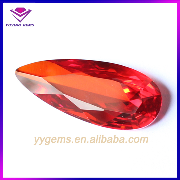 Favorable Price with Any Size Any Color Glass Pear Cut Hot Stone in Alibaba
