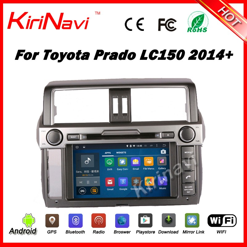 Kirinavi WC-TP9007 android 5.1 car multimedia for <strong>toyota</strong> <strong>prado</strong> car audio system 2014 2015 2016 gps navigation wifi 3g