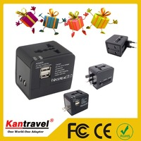 Christmas gift Wholesales Europe EU To US USA AC Power Plug Converter Travel Adapter Charger For Visit Friend