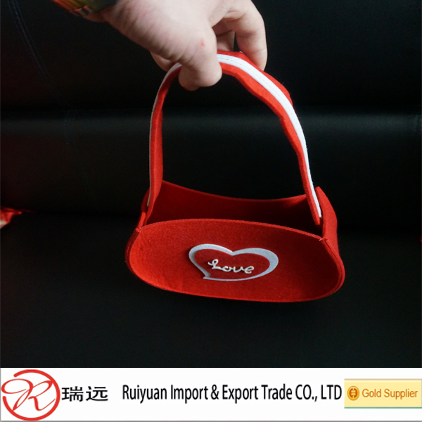 2015 New products Valentines day gift felt bags for lovers