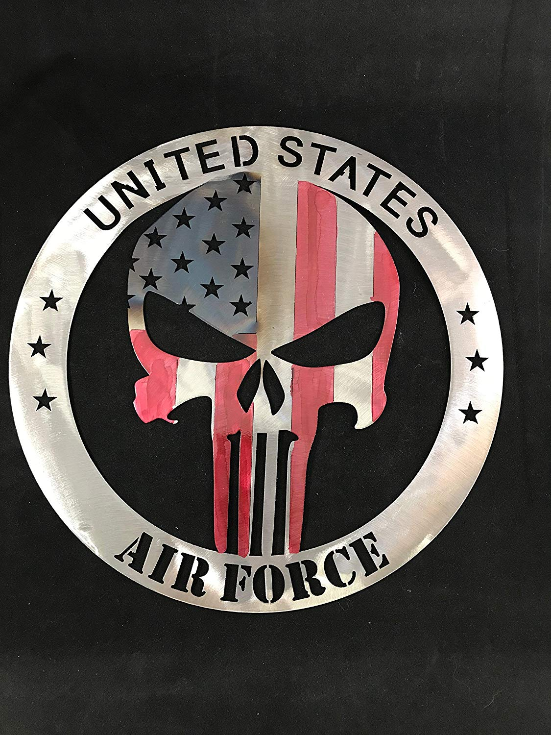 68cccc38e8 Buy Air Force Punisher American Flag Sign home decor FREE SHIPPING ...