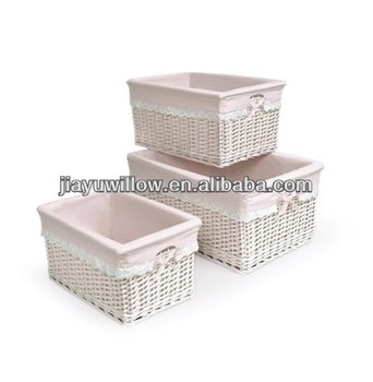 Pink Baby S Nursery Wicker Baskets
