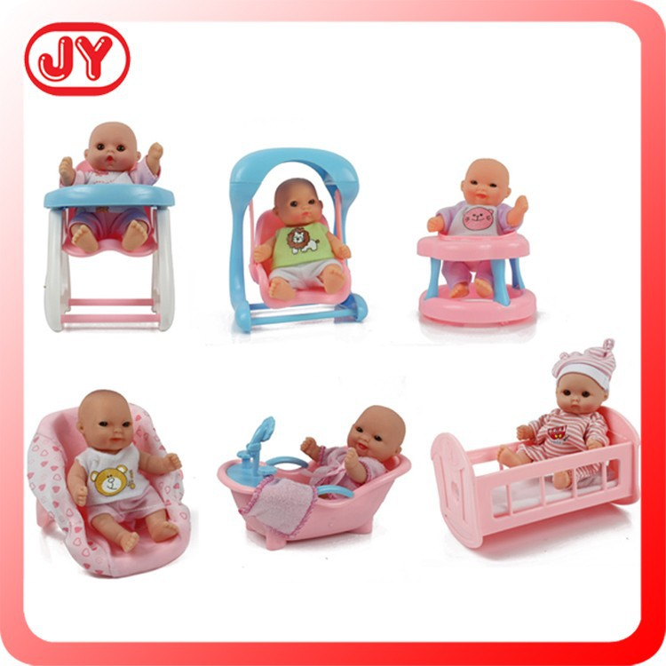 New 5 Inch Mini Cheap Silicone Baby Dolls For Sale 6 Pcs Display Box