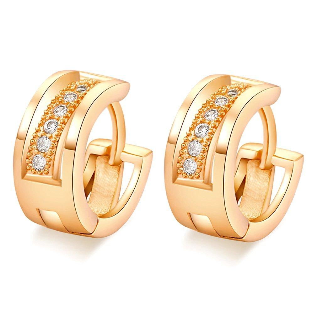 Get Quotations Earrings Sodial R Zircon Earring Gold Plated Hoops For Women
