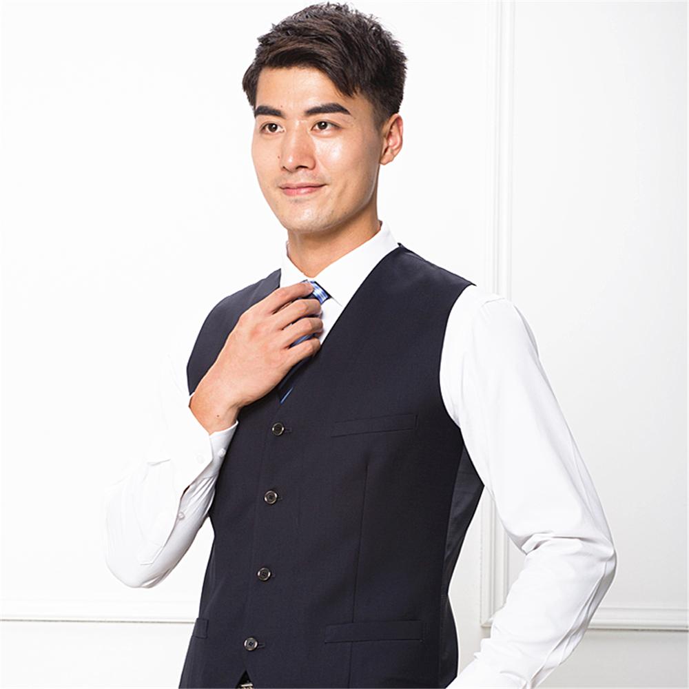 Men's Lapel Casual Plaid Waistcoat Gentleman Business Suit Check Vest