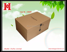 Cycling of kraft paperboard gift box packaging ,storage packaging box in custom black logo