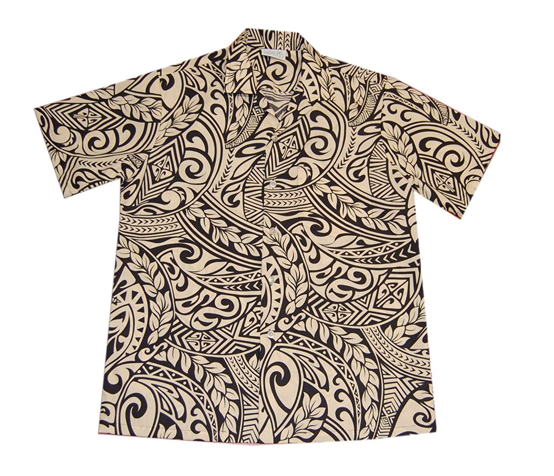 Mens Hawaiian Polyester Sunset Red Aloha Shirt Jade Fashions Inc