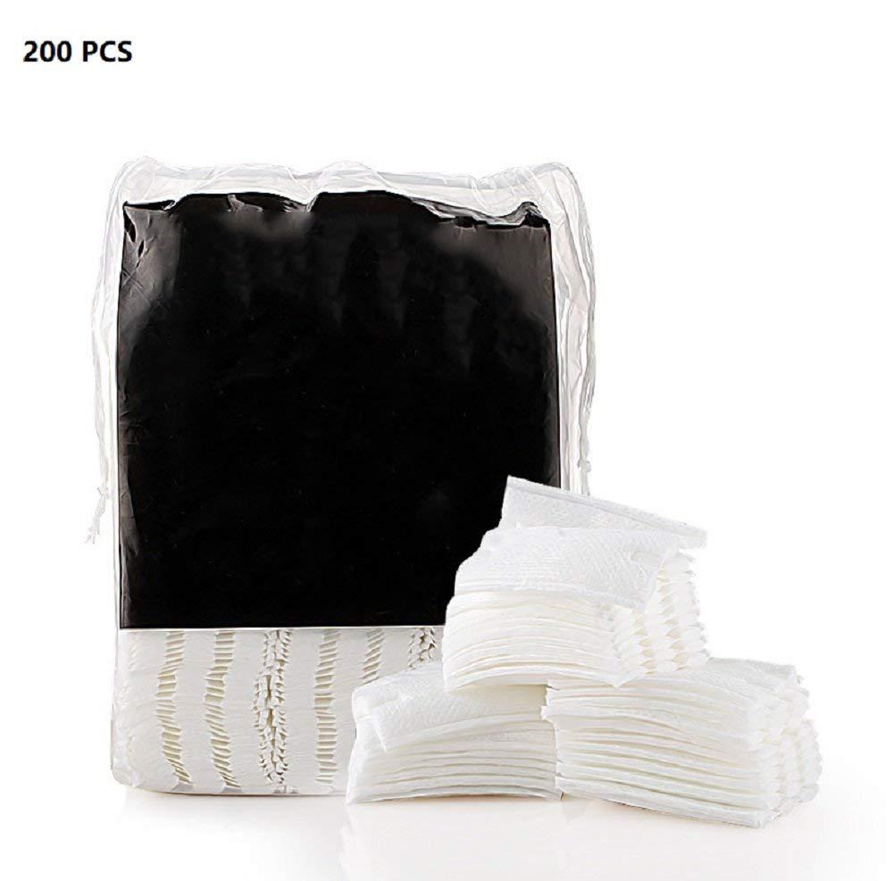 ixaer Makeup Remover Pads, 200Pcs Organic Cotton Pads Facial Cut Cleansing Makeup Puff Cosmetic Makeup Remover Wipes Face Wash Cotton Pads