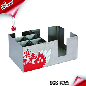 Wholesale custom stainless steel bar caddy