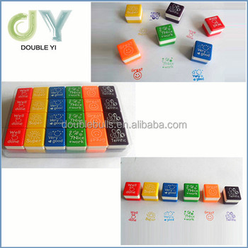 Cheap Cube Toy StampTeachers Self Inking Rubber Stamp Set