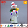 Clear led light christmas snowman decoration candle holder