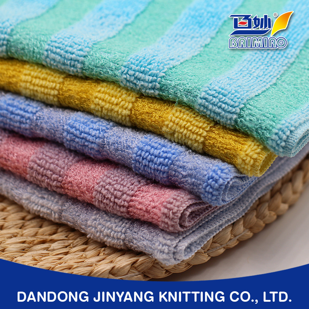 custom logo daily use colored fringe micro fiber hand towel terry