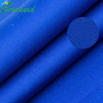 Cheap Price CVC Soild Dyed Twill Fabric For Coat Jacket Trouser