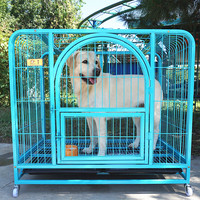 metal galvanized dog crate pet products kennel with paw protector