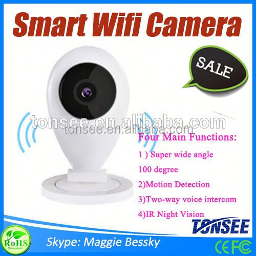 1.0 MP HD smart home wifi IP camera home security system ip65 led lamp,mini ip camera 2megapixel