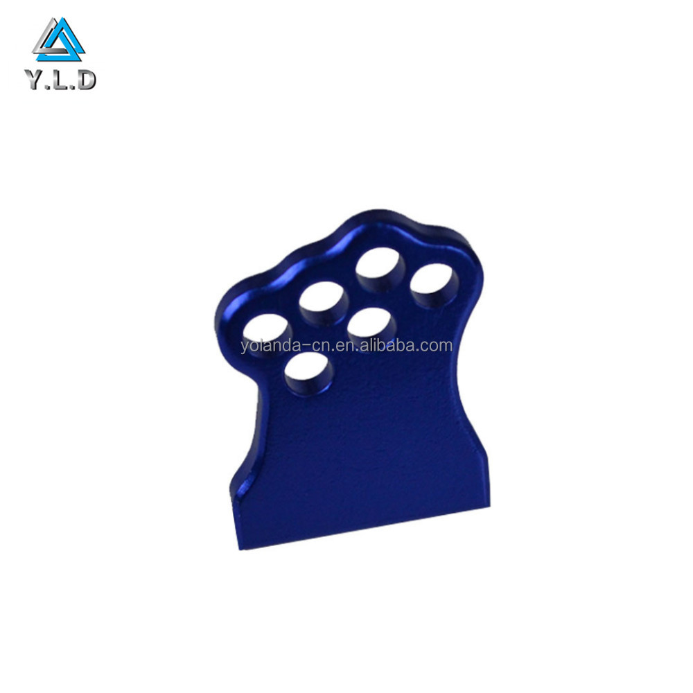 OEM High Precision Great Polishing Machined Aluminum Alloy Blue Anodized Parts For Auto Spare