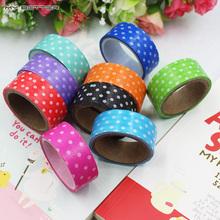 Polka Dots Masking Tape Adhesive Stationery Decorative Scotch Sticker Fita DIY Scrapbooking Tools 8 Color Random Distribution