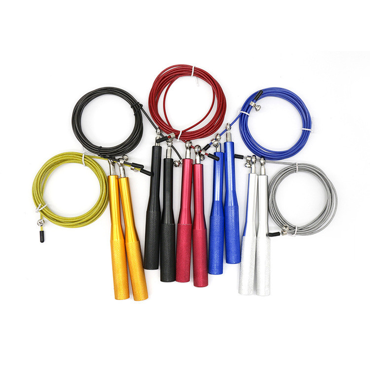 Factory direct selling high-end aluminum alloy handle bearing skipping rope steel cable wire