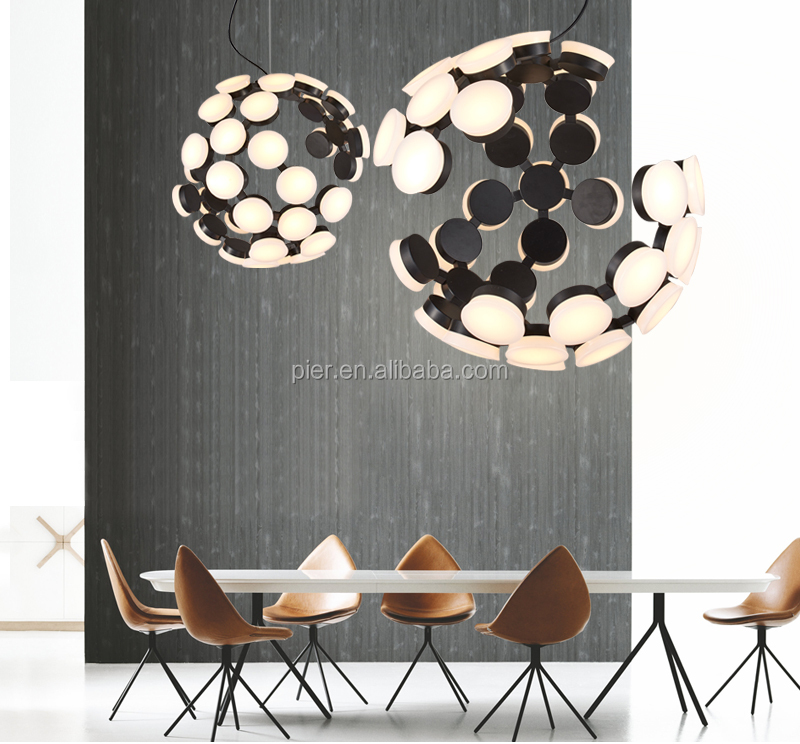 Creative design LED restaurant acrylic chandelier simple modern living room personality plum blossom lamps