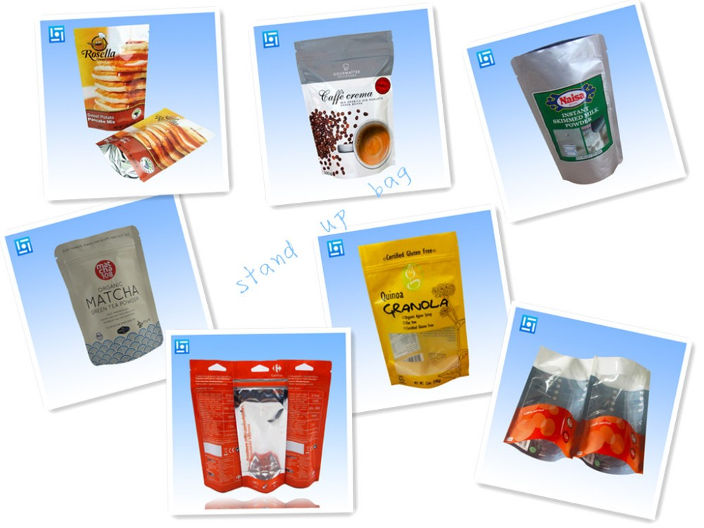 custom printed 500g zipper food packaging stand up mylar bags