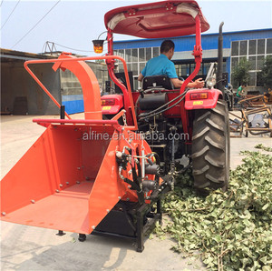 Factory supply tractor PTO driven wood mulcher chipper