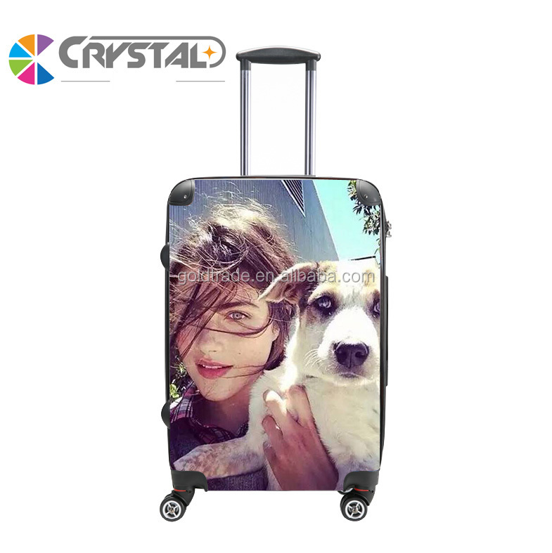 Personalised Design Customized Print Trolley Luggage Transparent Clear Super Light Kids Cartoon trolley luggage