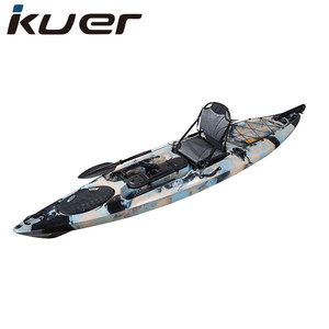 3.6m length roto molded plastic fishing boat with kayak seat