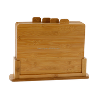 Aonong Bamboo Index Cutting Board- All Natural Chopping Board with 4 Index Tabs