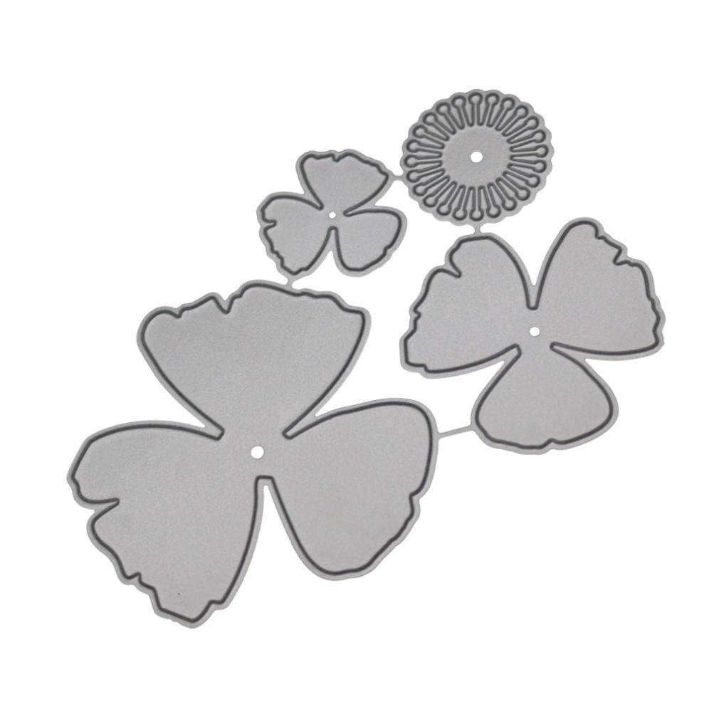 Cutting Dies,Pollyhb New Flower Heart Metal Cutting Dies Stencils DIY Scrapbooking Album Paper Card Craft B