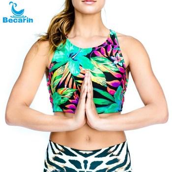 Gros personnaliser numérique imprimé femmes de yoga soutien-gorge de sport  remise en forme soutien 967e80d90b6