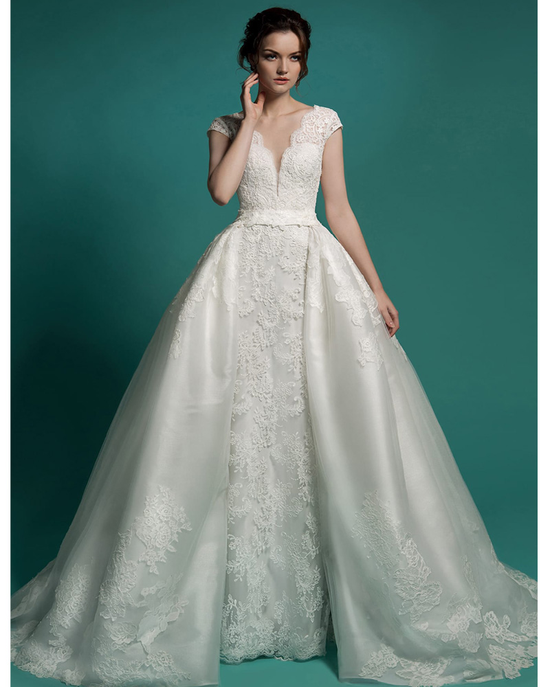 Wedding Dress With Removable Skirt 14