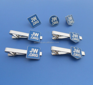 jw.org custom shape tie clip and cufflink lapel pin gift set