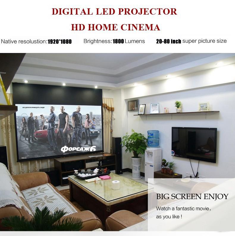 Wholesale Everycom EC-77 LED Projector 1800 lumens 3D full hd hdmi ...