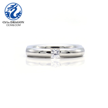 Engraved Stainless Steel Jewelry Design Custom Jewellery Geometry Cz Pave Rings