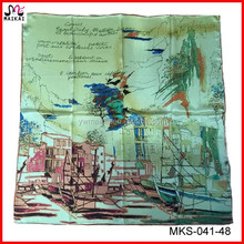 Latest new fashion printed silk u a e scarf importers