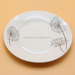 Custom printed wholesale ceramic 12 inch dinner plates