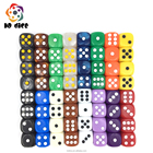 Acrylic [ Pearl ] The Dice 16mm Round Corner Pearl Color And Opaque Color D6 Pip Dice For Casino And Magic Game