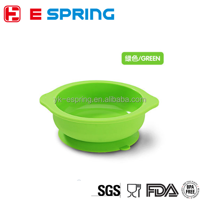 FDA Standard Child Non-slip Food Feeding Silicone Suction Baby Bowl