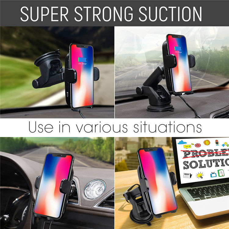 Fast Selling Items Qi Car Wireless Charger Infrared Induction New Qi Wireless Charger