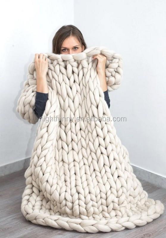 Super Chunky Kingsize Blanket,Merino Blanket,Super Chunky Knit ...