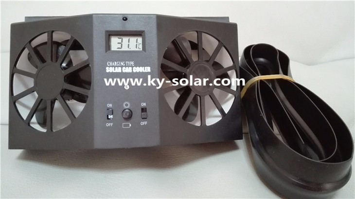 New Design ABS + PP Cooling Car Fan solar car fan