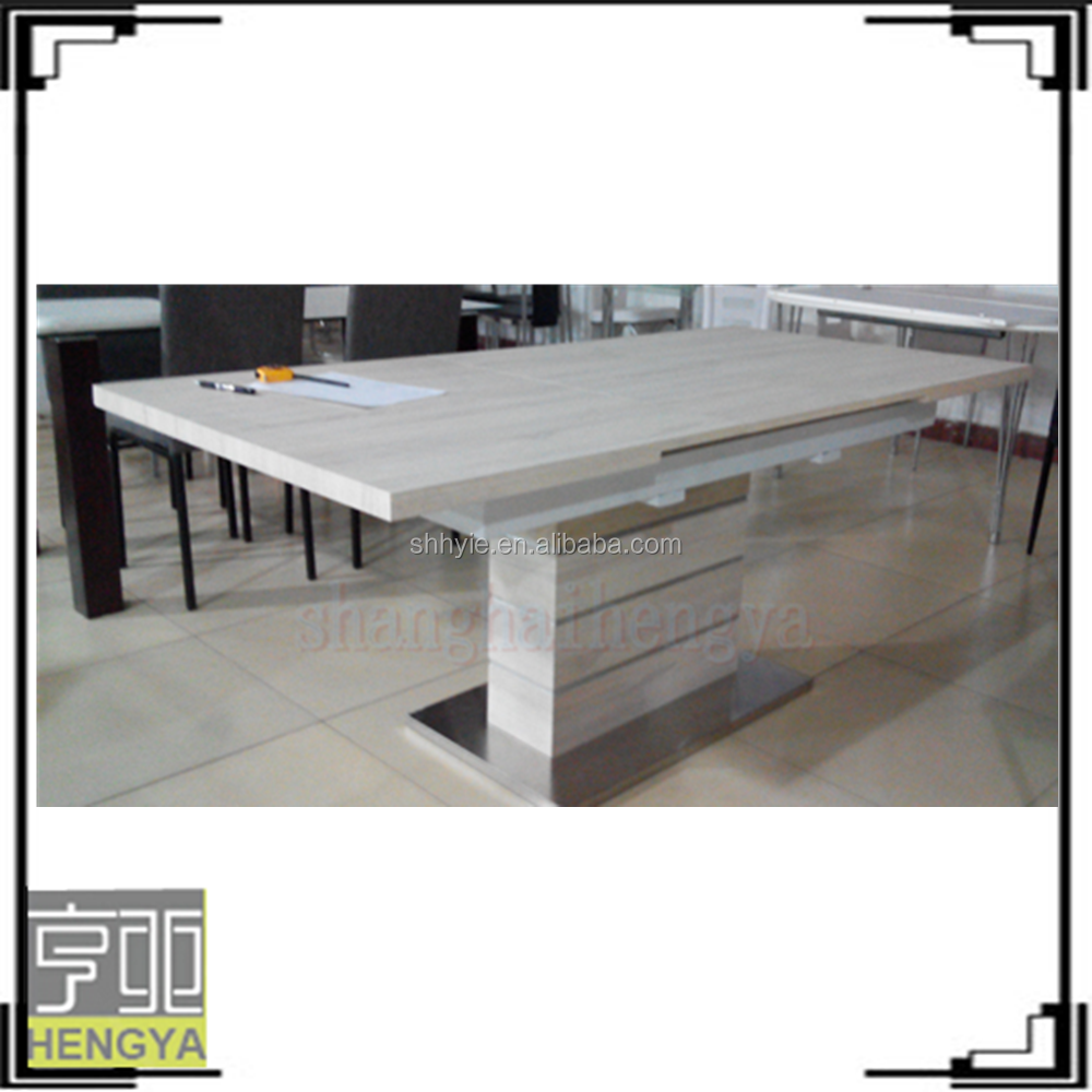 modern wooden high gloss veneer free painted paper dining table in living room