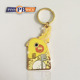 Custom 1.75inch gold plating PVC/rubber animal fashion design personalized car key chain with logo