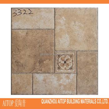 rustic stone like floor tile hot selling marble pattern vinyl flooring 300x300mm