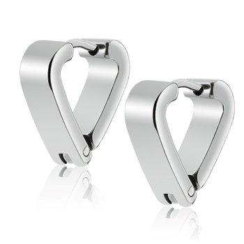 Factory Directly Women Men S Triangle Shaped Huggie Earrings Stainless Steel Hoop Earring For Party