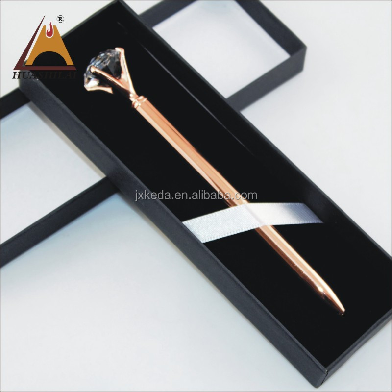 Products for Wedding Gift Rhinestone <strong>Pen</strong> Promotional luxury 19 Karat Crystal Cut Rose Gold Big Diamond Ballpoint <strong>Pen</strong> with box