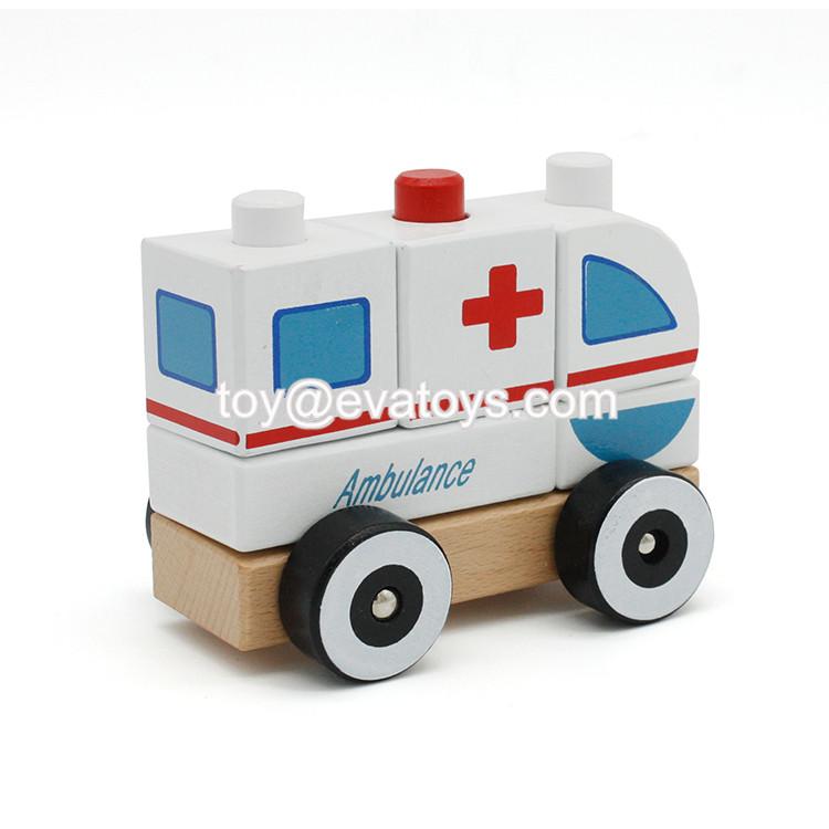 Venta Al Por Mayor De Dibujos Animados Coche Ambulancia Vehículo Juguetes Para Los Niños De Empuje A Lo Largo Vehículo Ambulancia Juguete De Madera