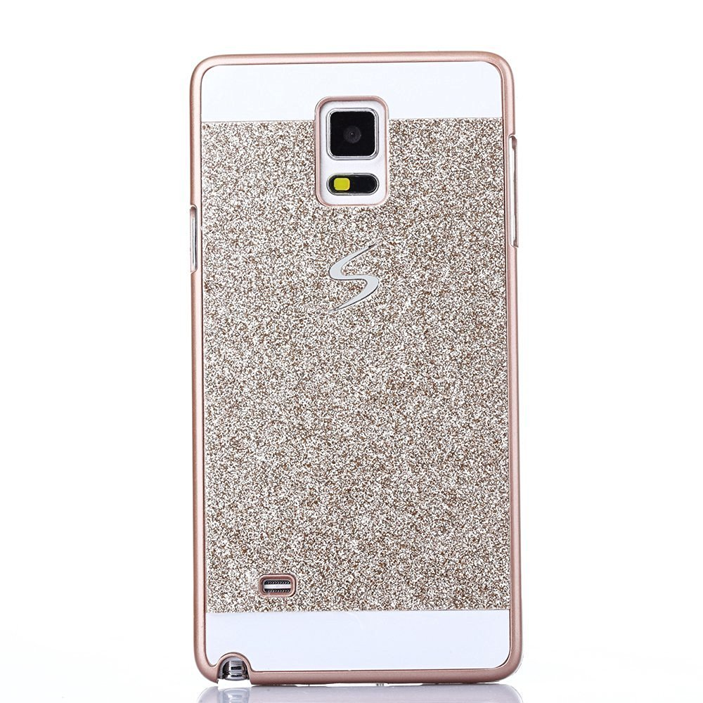 Top selling TM Samsung Galaxy Note 4 Case,Top Selling(TM) Luxury Bling Diamond with Crystal Rhinestone Vibrant Trendy Color Slider Style Hard pc Case for Samsung Galaxy Note 4 + Bonus Top Selling Logo Stylus (Gold, samsung galaxy note 4 N9100)
